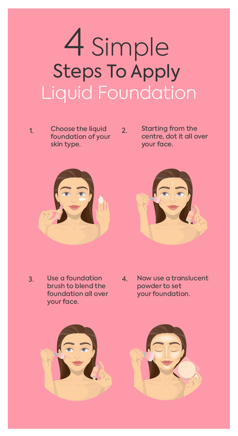 4 simple steps to apply liquid foundation