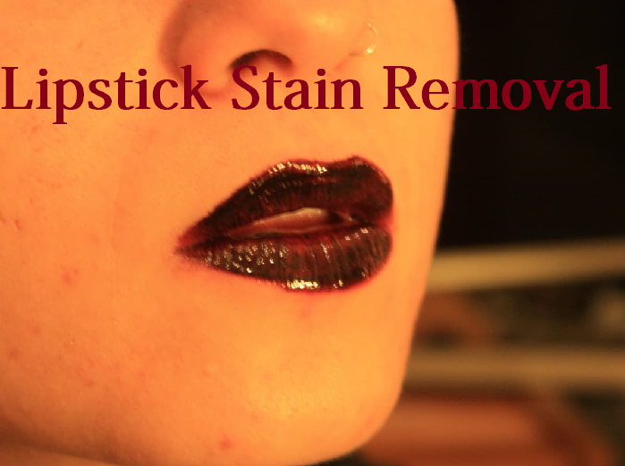 lipstick stain removal